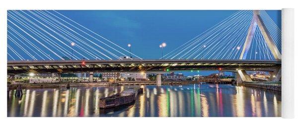 Zakim Bridge And Charles River At Dawn Yoga Mat