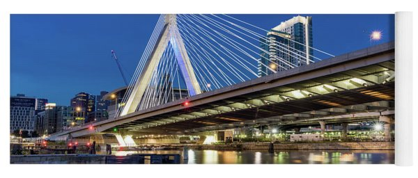 Zakim Bridge And Charles River Yoga Mat