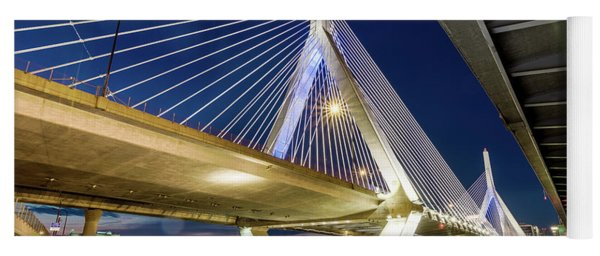Zakim Bridge From Bridge Under Another Bridge Yoga Mat