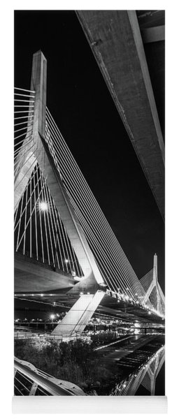 Zakim Bridge From Under The Leverett Connector Bridge Yoga Mat
