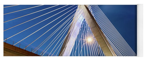 Zakim Bridge Upclose Yoga Mat