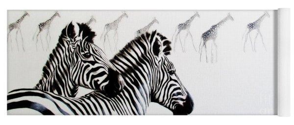 Zebra And Giraffe Yoga Mat