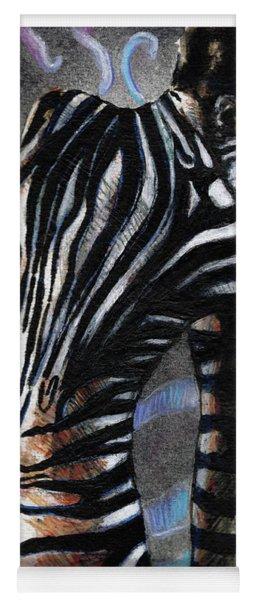 Zebra Boy At Dawn Yoga Mat