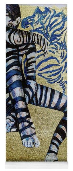 Zebra Boy The Lost Gold Drawing  Yoga Mat