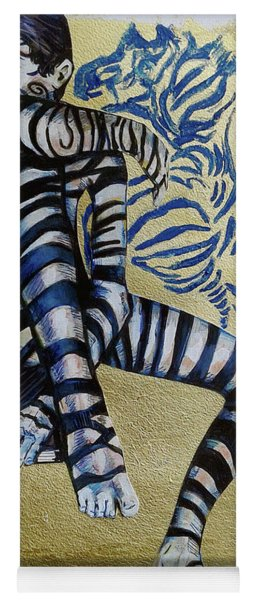 Zebra Boy The Lost Gold Drawing  Yoga Mat