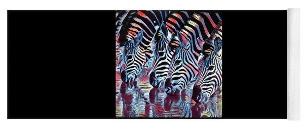 Zebra Dazzle Yoga Mat