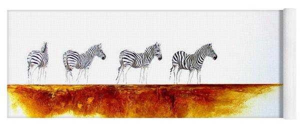 Zebra Landscape - Original Artwork Yoga Mat