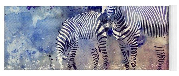 Zebra Paradise Yoga Mat