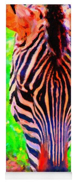 Zebra . Photoart Yoga Mat