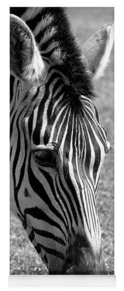 Zebra Portrait Yoga Mat
