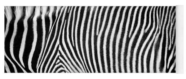 Zebra Print Black And White Horizontal Crop Yoga Mat