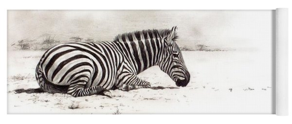 Zebra Sketch Yoga Mat
