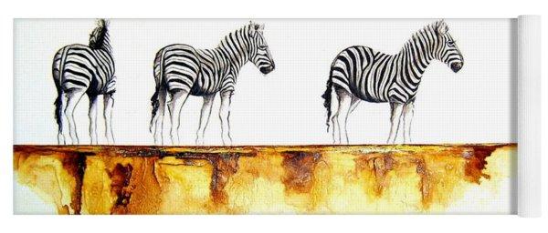 Zebra Trio - Original Artwork Yoga Mat