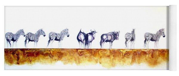 Zebras And Wildebeest 2 Yoga Mat