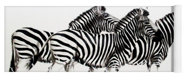 Zebras - Black And White Yoga Mat