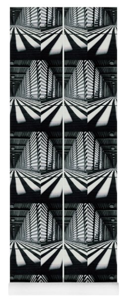 Zebras  Crossing Art Yoga Mat