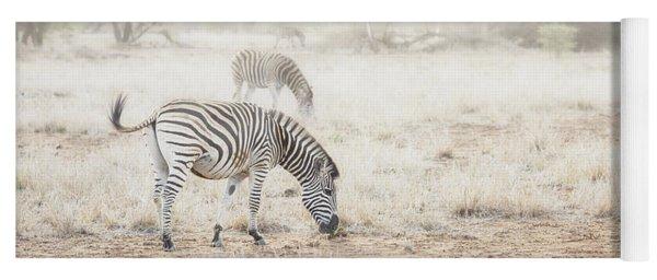 Zebras In Dreamy Scene - Horizontal Banner Yoga Mat