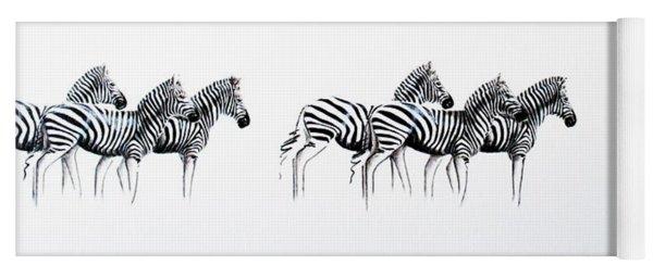Zebrascape - Original Artwork Yoga Mat
