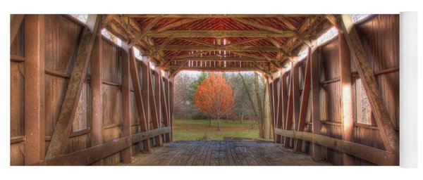 Sycamore Park Covered Bridge Yoga Mat