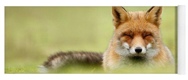 Zen Fox Series - Zen Fox In A Sea Of Green Yoga Mat