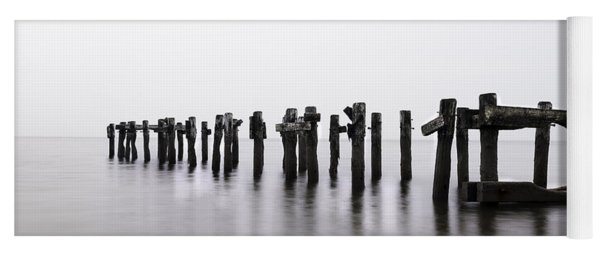 Yoga Mat featuring the photograph Zen Piers  by Expressive Landscapes Fine Art Photography by Thom