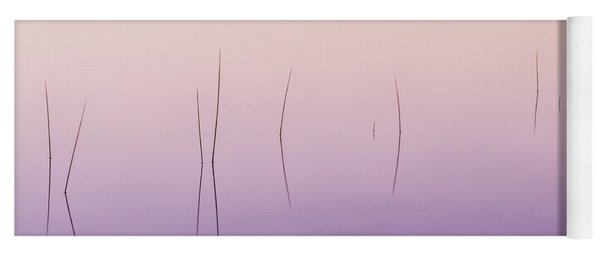 Yoga Mat featuring the photograph Zen Reeds  by Expressive Landscapes Fine Art Photography by Thom