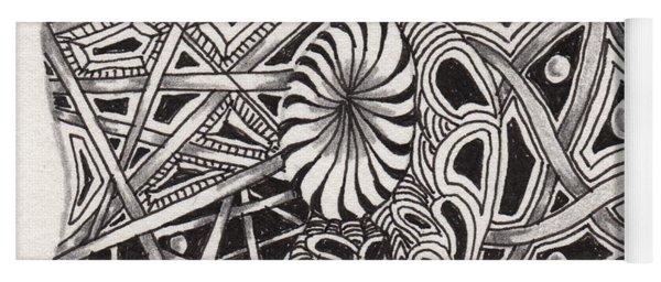Zentangle Abstract 1 Yoga Mat