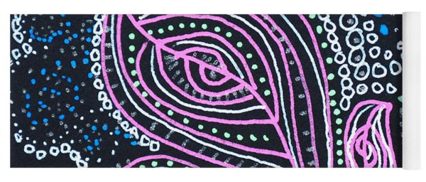 Zentangle Flower Yoga Mat