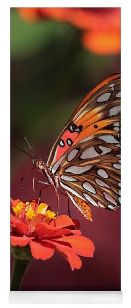 Zinnia With Butterfly 2668 Yoga Mat