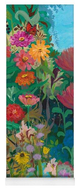 Zinnias Garden Yoga Mat