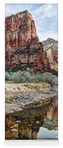 Zions National Park Angels Landing - Digital Painting Yoga Mat