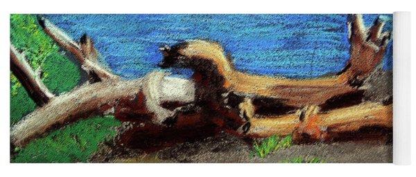 012519 Yellow Stone Lake Shore Yoga Mat