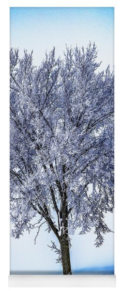 039 - Frosty Tree Yoga Mat