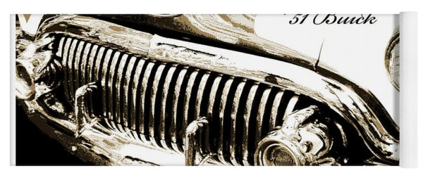 1951 Buick Super, Digital Art Yoga Mat