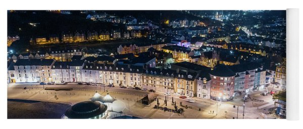 Aberystwyth Wales At Night From The Air Yoga Mat