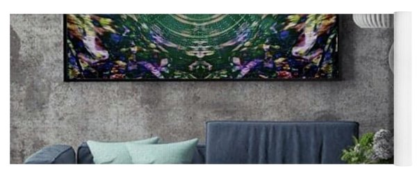 Abstract Cherry Blossom Yoga Mat