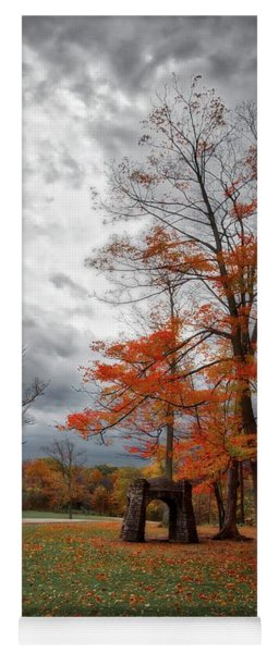 Yoga Mat featuring the photograph An Autumn Day At Chestnut Ridge Park by Guy Whiteley