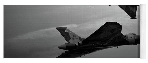 Avro Vulcan Xh558 And Eurofighter Typhoon Gina. Yoga Mat