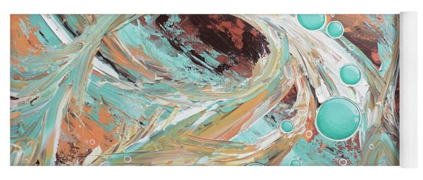 Yoga Mat featuring the painting Beach Glass by William Love
