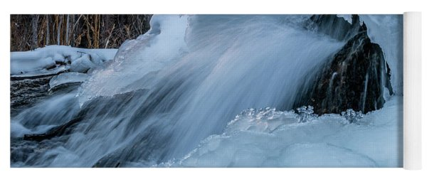 Big Hills Springs Under Snow And Ice, Big Hill Springs Provincia Yoga Mat