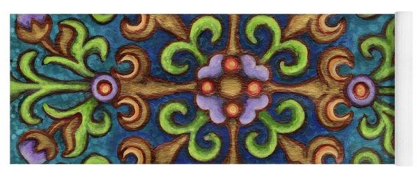 Botanical Mandala 8 Yoga Mat