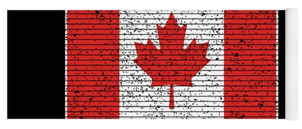 Canadian National Flag Vintage Canada Country Gift Yoga Mat