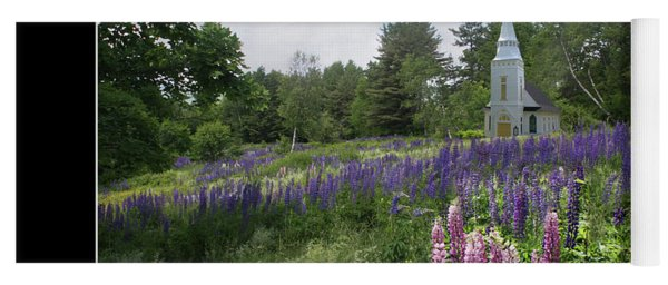 Chapel In The Lupine Poster Yoga Mat
