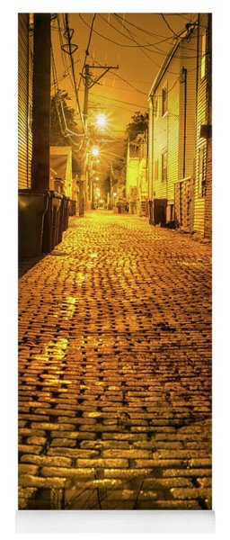 Chicago Alley At Night Yoga Mat