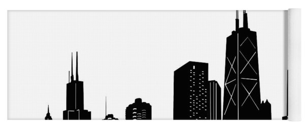 Chicago Skyline Panorama Yoga Mat