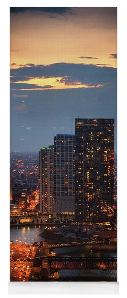 Chicago Sunset Yoga Mat