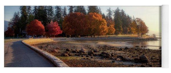 Colorful Autumn Foliage At Stanley Park Yoga Mat