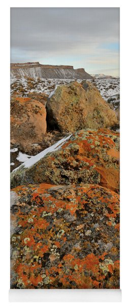 Colorful Boulders Of The Book Cliffs Yoga Mat