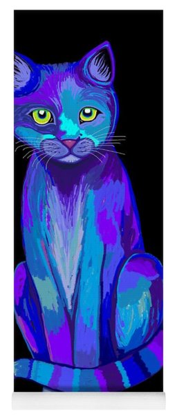 Colorful Calico Cat Yoga Mat