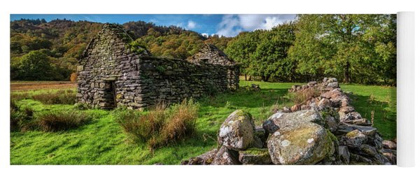 Cottage Ruin Snowdonia Yoga Mat